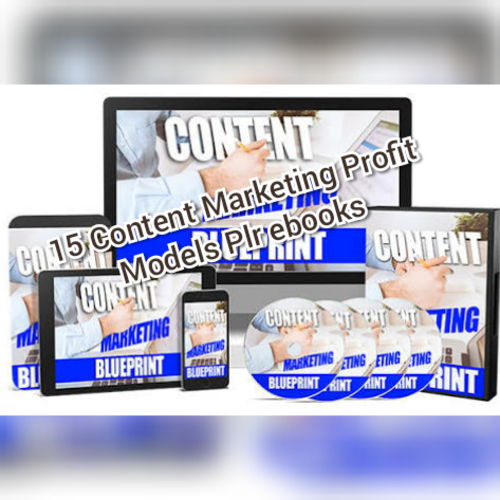 Product picture  Content marketing profit models plr ebooks